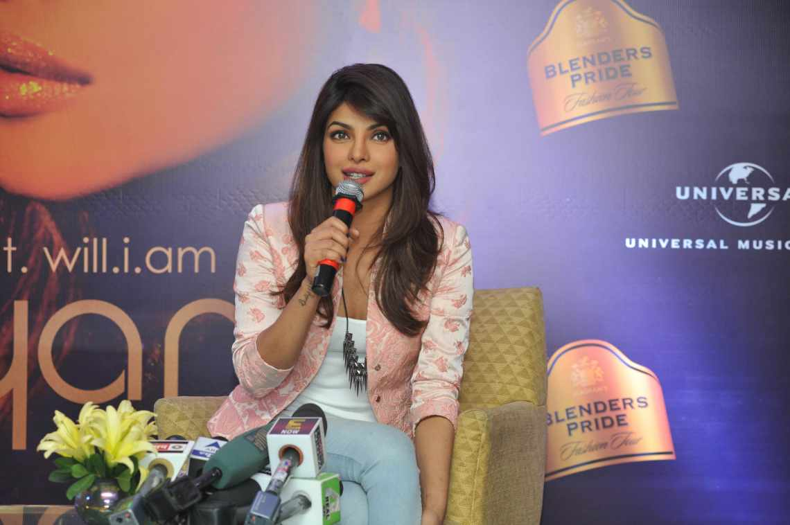 Priyanka Chopra showcases her musical side at the Blenders Pride Fashion Tour